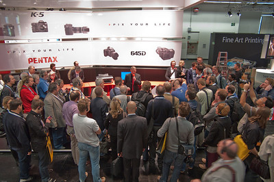 Pentax Germany presenting K-5 to international press � Falk Lumo 2010--
